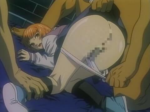 おかっぱショートカットの美少女がパンツを脱がされマンコ丸見え(エロアニメ「メゾフォルテ vol.2」)