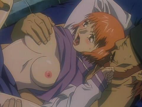 おかっぱショートカットの美少女が嫌がりながらチンポ挿入されるNTRレイプ(エロアニメ「メゾフォルテ vol.2」)