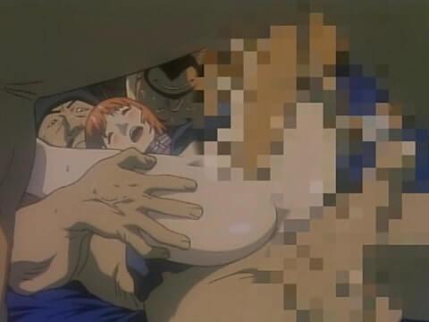おかっぱショートカットの美少女がマンコとアナル二穴同時挿入SEX(エロアニメ「メゾフォルテ vol.2」)